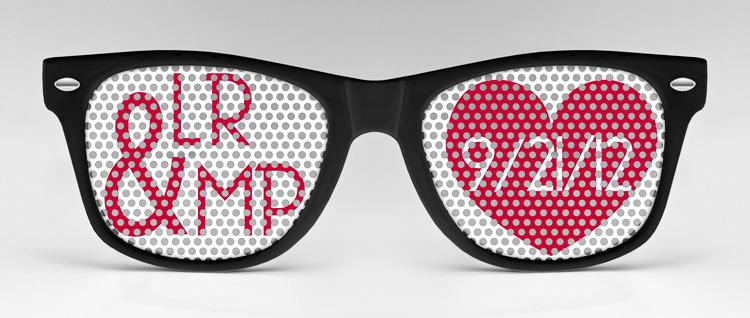 custom sunglasses  Custom Wedding Sunglasses...Love is in the Air