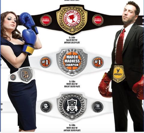 Custom Championship Award Belts