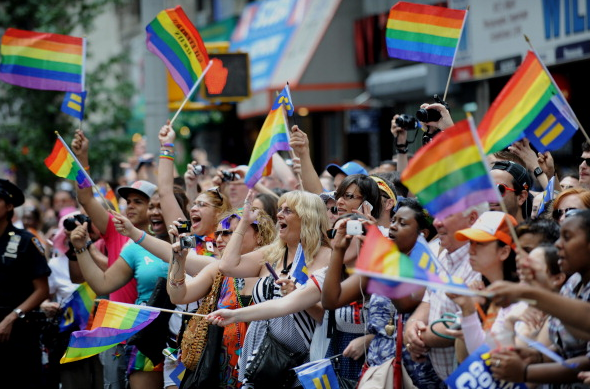 the Gay Fest parade ended without incident