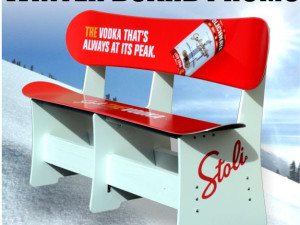 Snowboards Just Got Comfortable: custom snowboard benches!