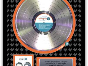 Make Your Next Award a Platinum Record