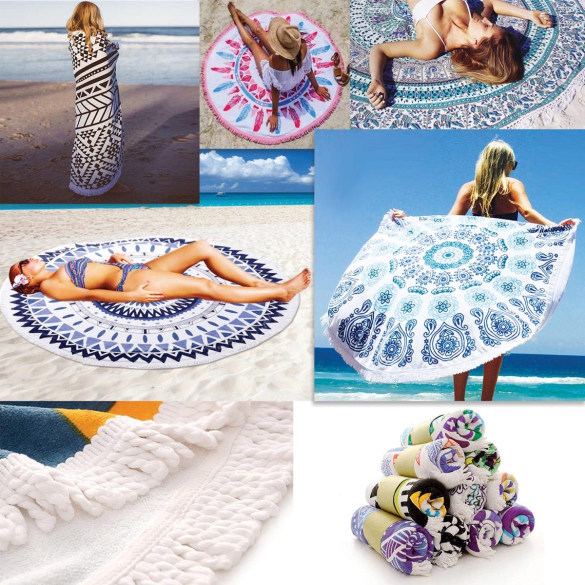 Check Out These Round Full Color Microfiber Beach Towels That Have Been Taking Social Media By Storm You Can Choose From Existing Patterns Or Add