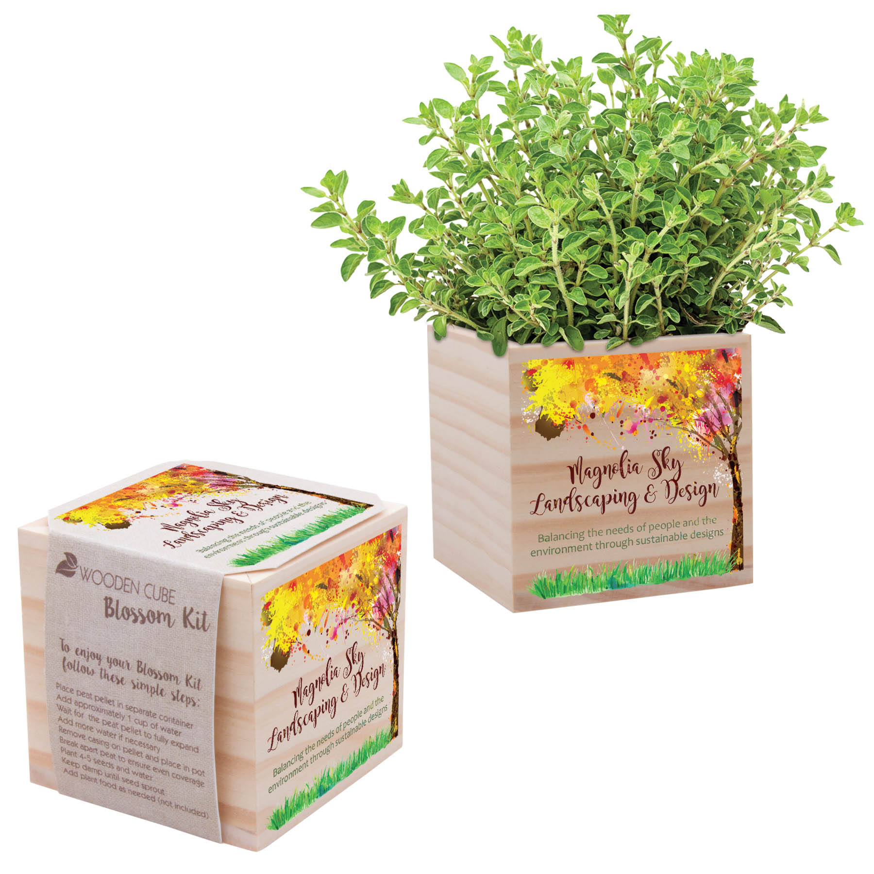 Go green with custom plant kits captiv8 promotions for Indoor gardening kit green toys