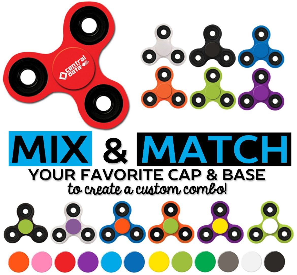Captiv8 Supply The Trendy Product That Has Taken Industry By Storm Fidget Spinner Now Allows You To Mix And Match Colors For Both Base
