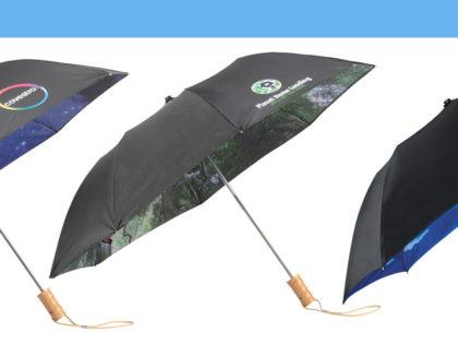 Auto-Open Umbrellas with Interior Nature Scenes