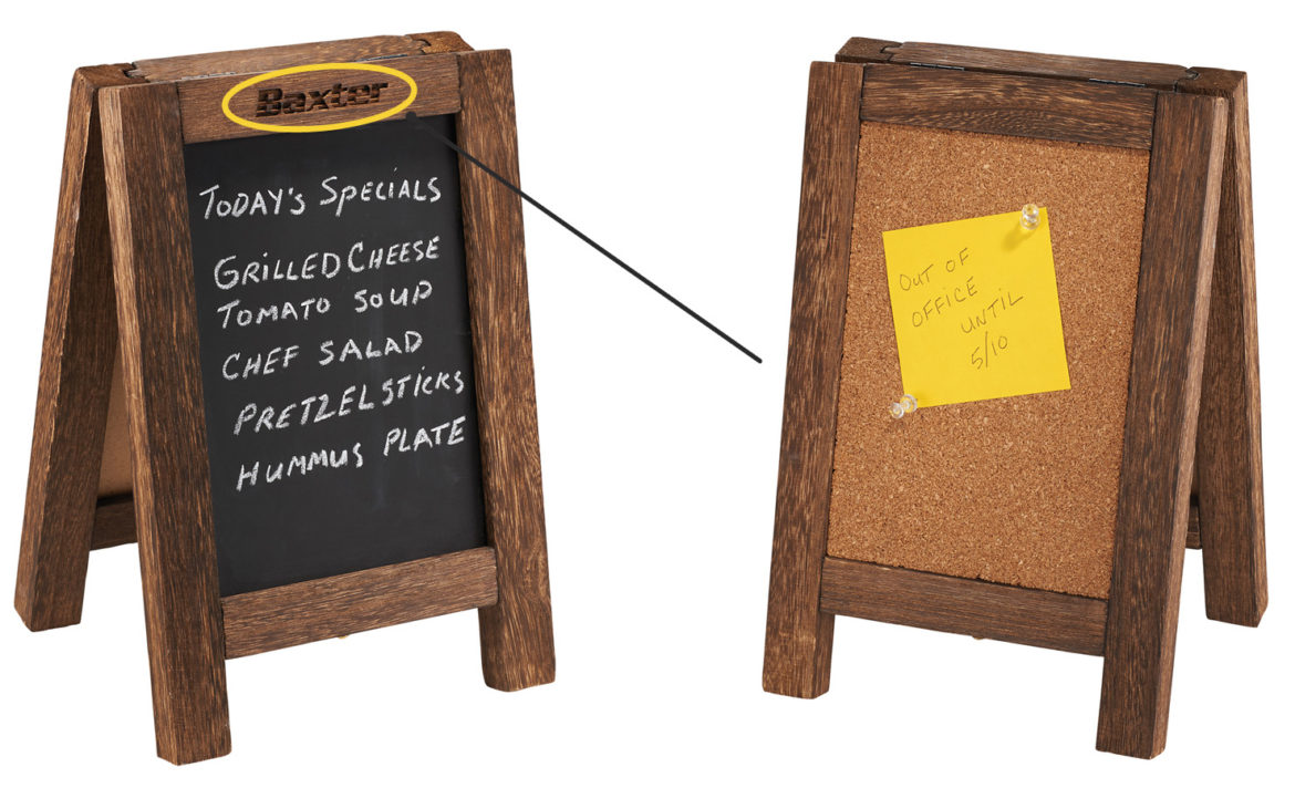 Mini Wooden Easel Stand With A Chalkboard Amp Corkboard