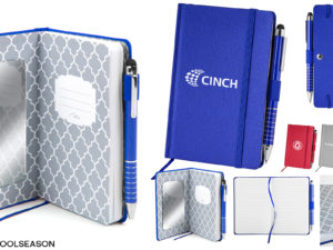 Custom Fabric-Covered Notebook Set with a Built-In Mirror