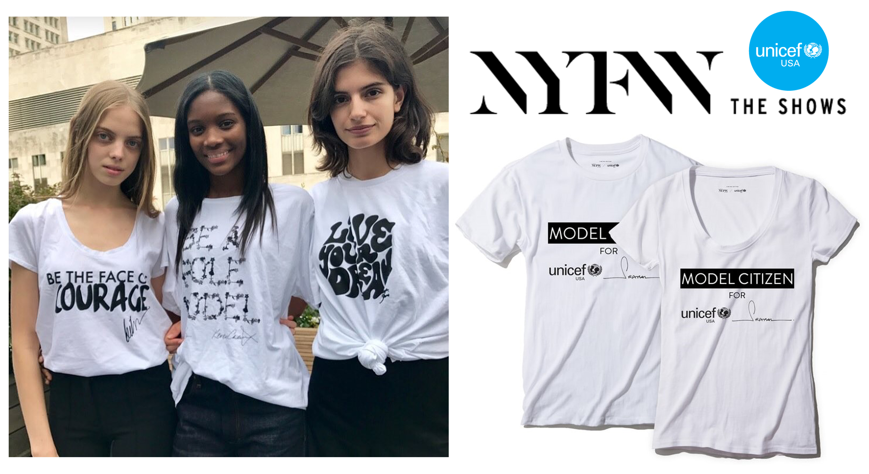 Createdbycaptiv8 nyfw x unicef custom t shirts tees for Custom tee shirts nyc
