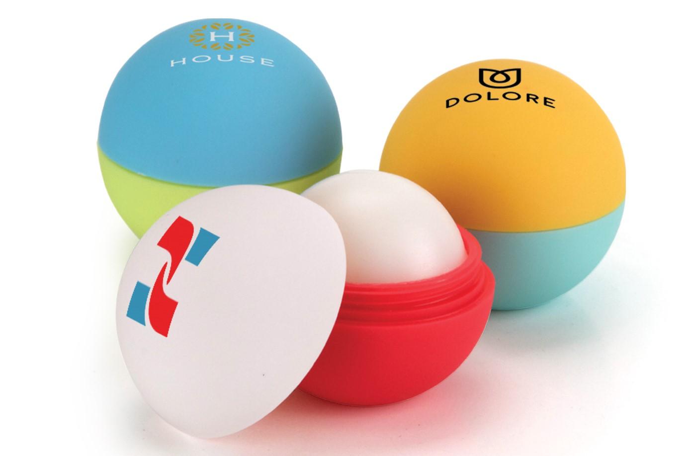 custom combination rubber lip balm ball - Custom Lip Balm