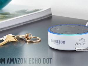 Custom Amazon Echo Dot with Printed Logo