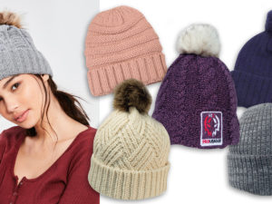 Custom Cable Knit Beanies