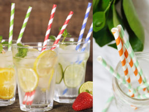 5 Pack of Paper Straws in Custom Pouch