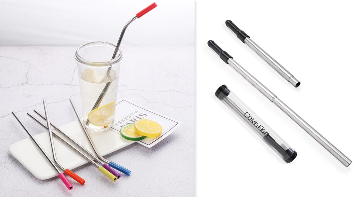 Collapsible Stainless Steel Straw in Custom Case - Captiv8