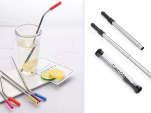 Collapsible Stainless Steel Straw in Custom Case