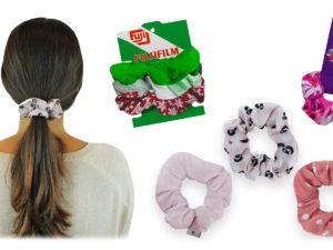 Custom Full-Color Scrunchies in Custom Packaging