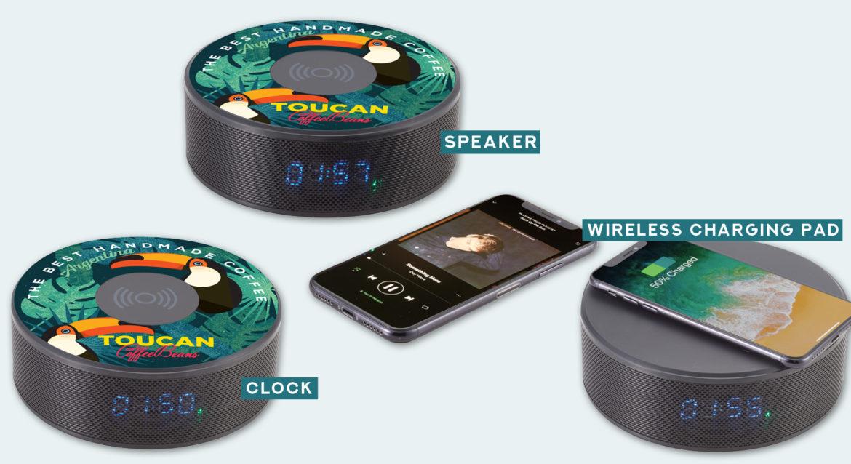 EARLY 2019 RELEASE* - 3-in-1 Bluetooth Speaker, Clock & Wireless
