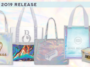 *EARLY 2019 RELEASE* Iridescent Totes & Pouches