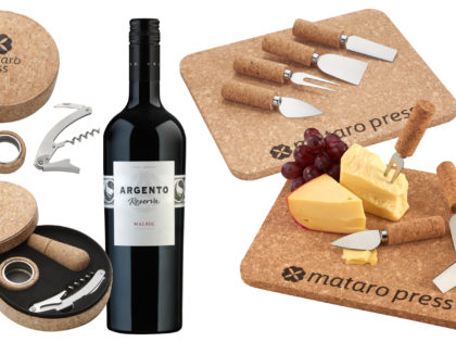 Custom Cork Wine & Cheese Sets