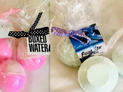 CBD Bath Bombs & Shower Steamers with Custom Hang Tags