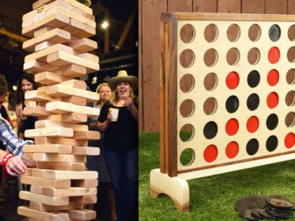 Custom Giant Yard Games – Jenga, Connect 4 & More!